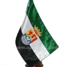 Bandera Extremadura sobremesa bordada
