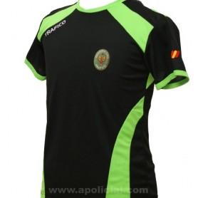 Camiseta Técnica Tráfico negra/verde