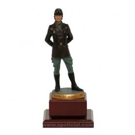 Figura plomo Motorista Guardia Civil Tráfico 1959. Tamaño 13 cm.