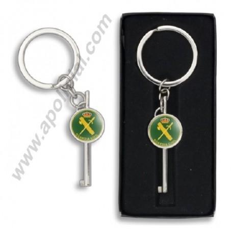 Llavero llave grilletes emblema Guardia Civil