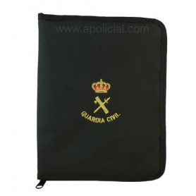 Carpeta nylon Guardia Civil, cuarto con cremallera