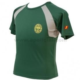 Camiseta Técnica Tráfico verde/gris