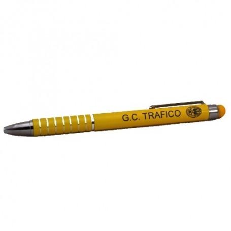 Bolígrafo puntero fino amarillo Tráfico