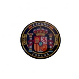 Pegatina volumen pequeño 1 circulo escudo España