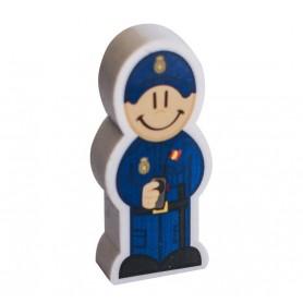 Lápiz portagoma Policía Nacional