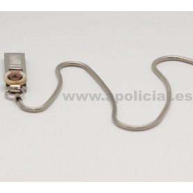 Cadena silbato metálica con pinza Protección C.