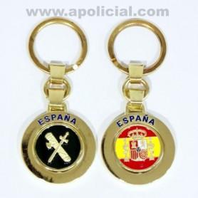 Llavero giratorio Guardia Civil/ bandera España