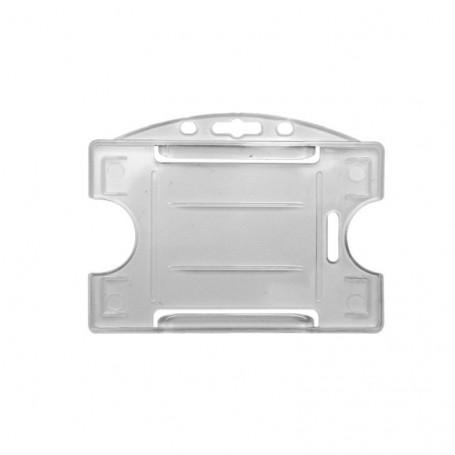 Porta tarjeta rígida transparente