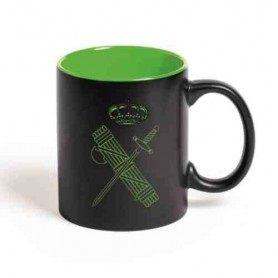 Taza cerámica negra Guardia Civil