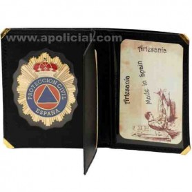 Cartera placa Protección Civil Libro