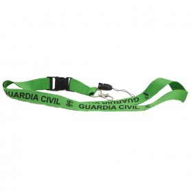 Cinta lanyard verde Guardia Civil