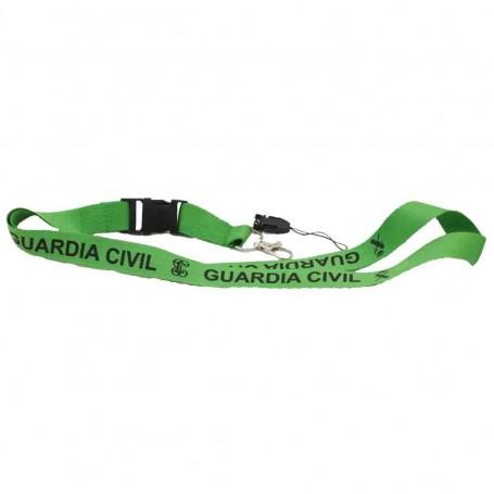 Cinta lanyard verde Guardia Civil