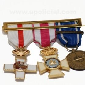 Laña medalla 3 huecos calidad superior