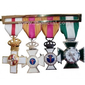 Laña medalla 4 huecos calidad superior