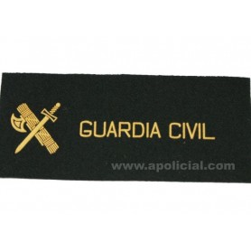 Galleta fieltro negra velcro Guardia