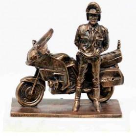 Figura Motorista con moto