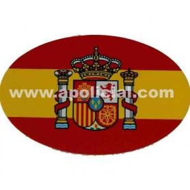 Pegatina pequeña bandera ovalo España