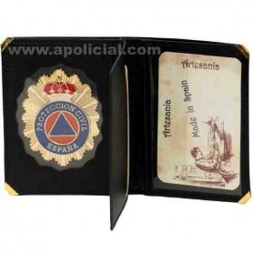 Cartera placa Protección Civil Libro