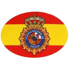 Pegatina pequeña ovalo bandera PN