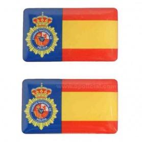 Pegatina volumen pequeño 2 emblema PN/España