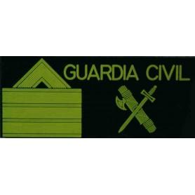 Galleta anorak velcro Sargento 1º color fluor