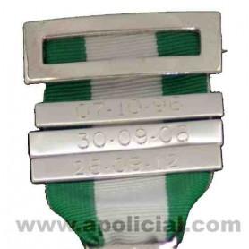Barra de repetición medalla grabada