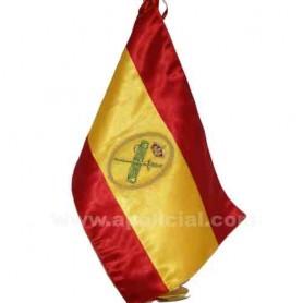 Bandera España sobremesa bordada Guardia Civil