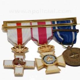 Laña medalla 3 huecos