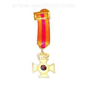 Medalla miniatura Constancia plata