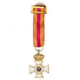 Medalla miniatura Constancia oro