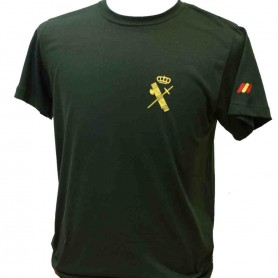 Camiseta algodón verde Guardia Civil