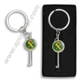Llavero llave grilletes emblema Guardia Civil