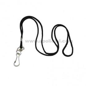 Cordón negro con mosquetón