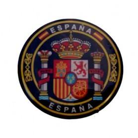 Pegatina volumen grande circulo escudo España