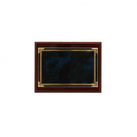 Placa 14 x 11 Azul/dorada
