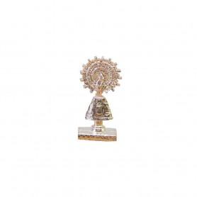 Virgen del Pilar 6 cm metálica para coche