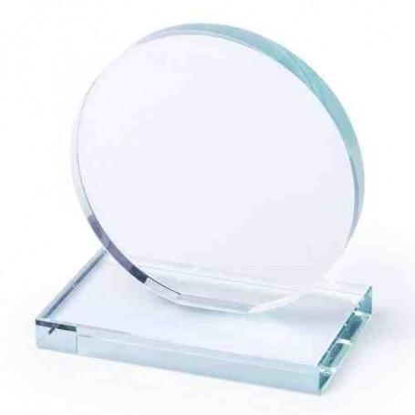 Figura cristal redonda con peana