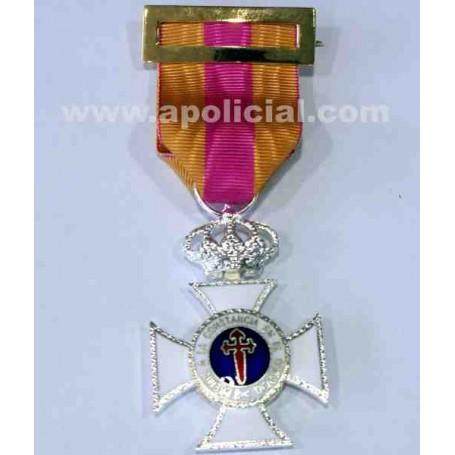 Medalla Constancia plata 25 años metal