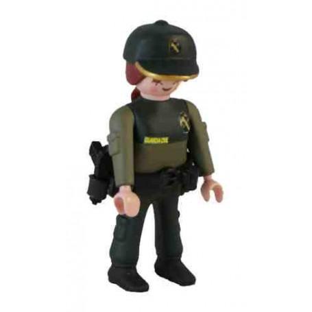 Muñeco articulado chica Guardia Civil