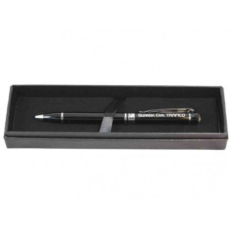 Bolígrafo negro/cristal Tráfico