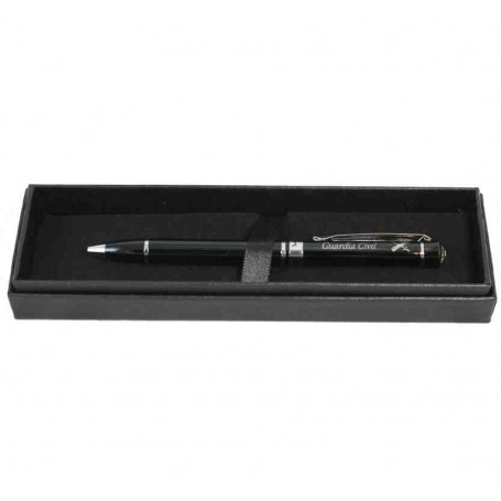 Bolígrafo negro/cristal Guardia Civil