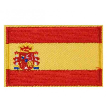 Parche bandera España con escudo 8 cm