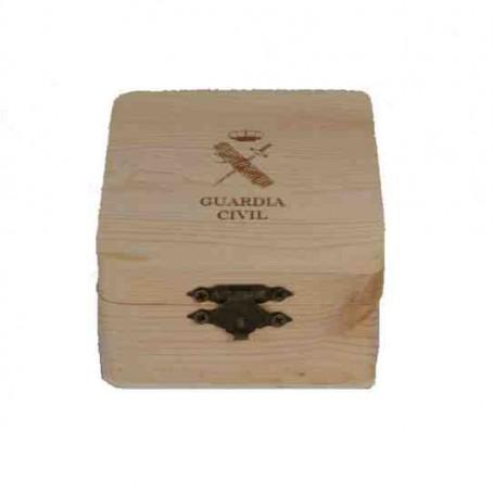 Caja madera Guardia Civil 80x80 mm
