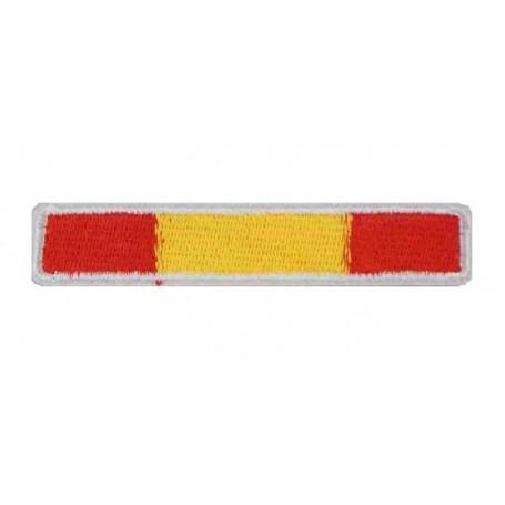 Parche bandera España 7,5 x 1,5 cm borde blanco