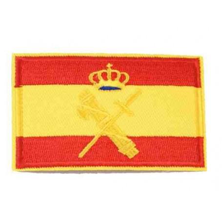 Parche bandera España con escudo G.C. 8 cm