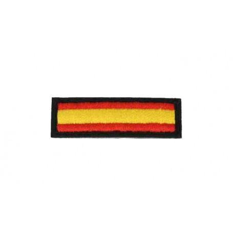 Parche bandera España 5 x 1,5 cm borde negro
