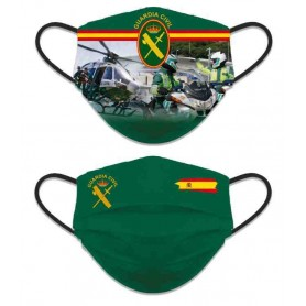 Mascarilla reversible decorada Guardia Civil