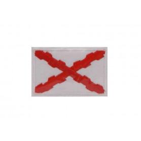 Parche bandera Cruz de Borgoña 5 cm