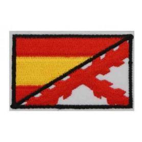 Parche bandera Cruz de Borgoña/España 8 cm