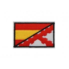 Parche bandera Cruz de Borgoña/España 5 cm